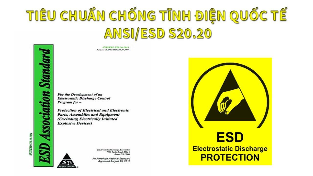 UPDATE TIÊU CHUẨN ANSI/ESD2020-2021