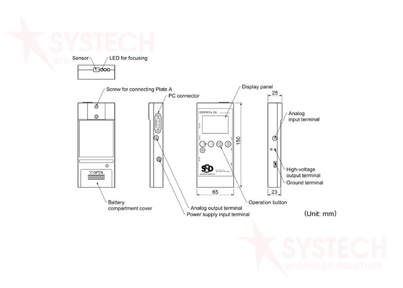 Thiết bị đo điện áp tĩnh điện và ionizer tích hợp STATIRON DX
