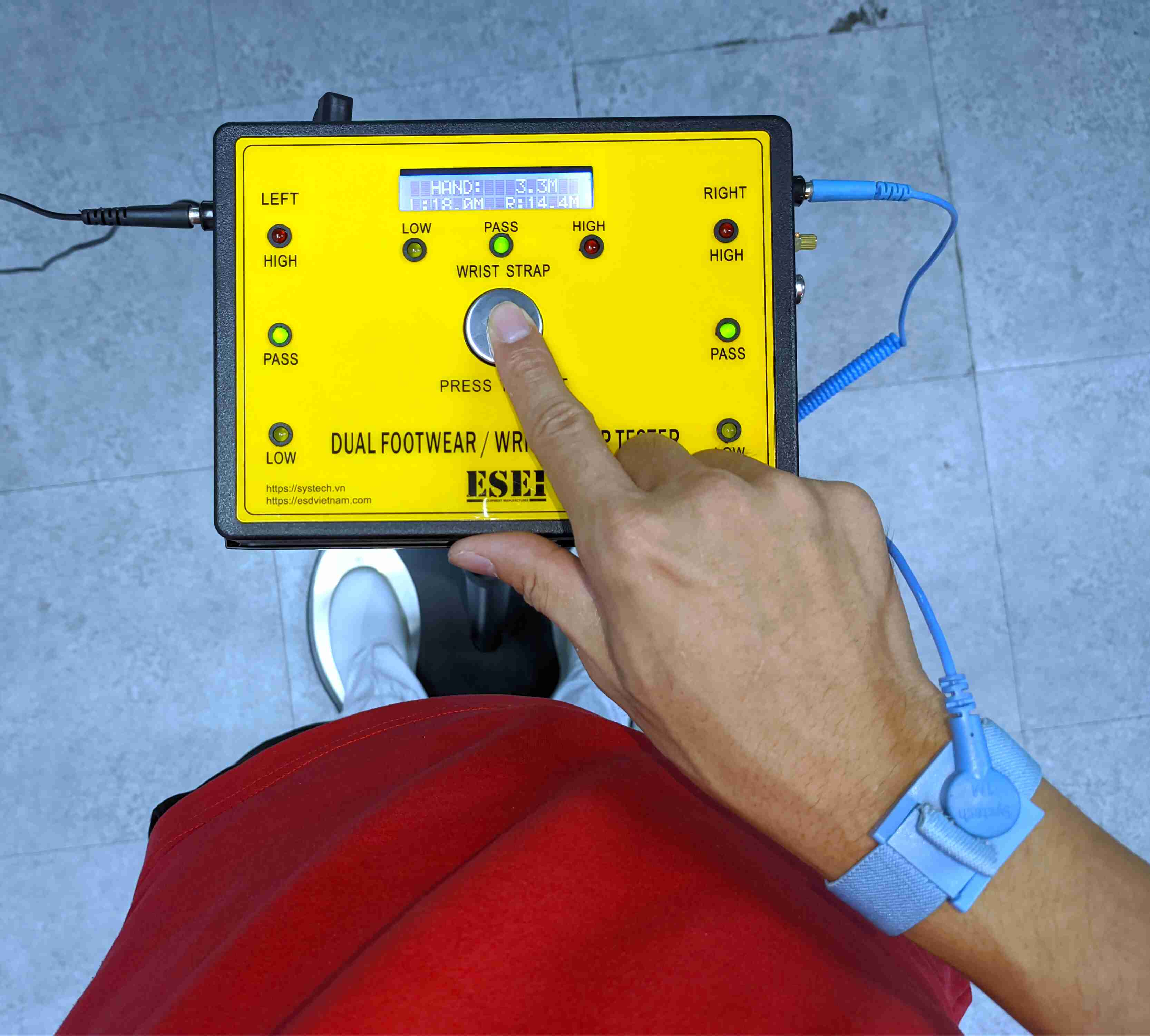 Thiết bị kiểm tra giầy và vòng đeo tay ESEI-C6506
