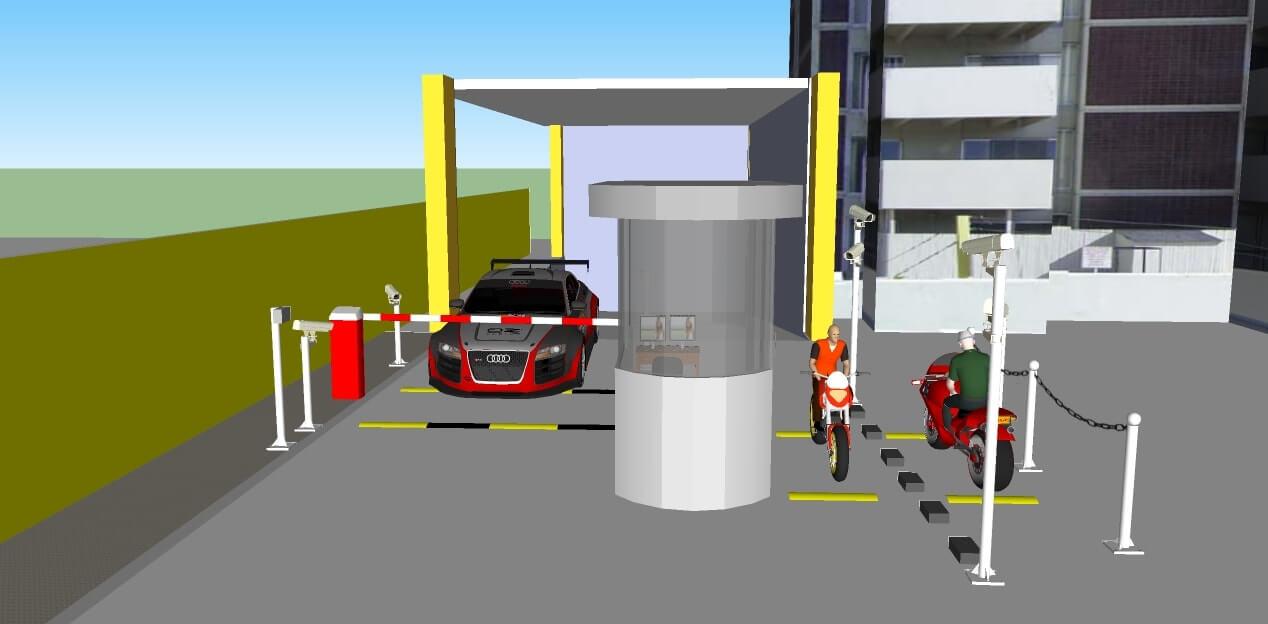 Hệ thống quản lý bãi xe AIPARKING